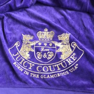 JUICY COUTURE velour purple zipup
